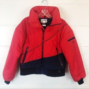 Vintage DTW Thinsulate Red Navy Puffer Ski Coat M